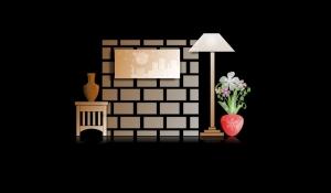 оригинальное оформление привлечет внимание к стене