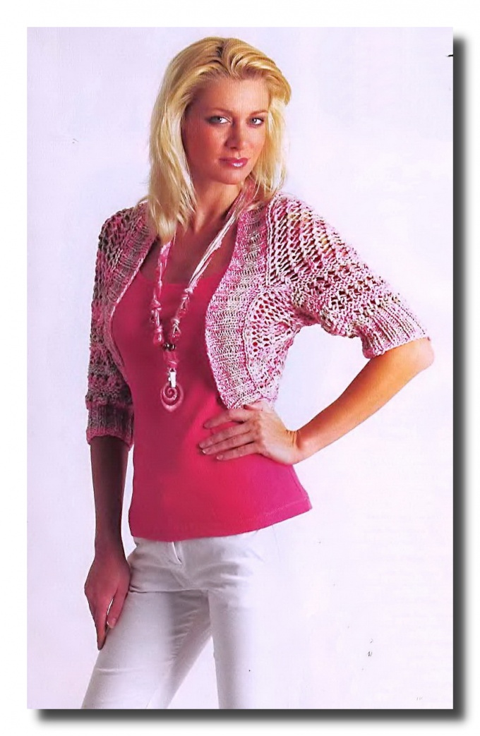 How to knit Bolero knitting