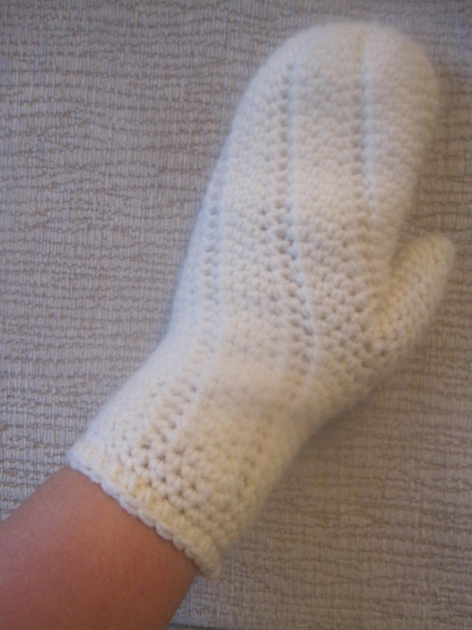 How to knit mittens crochet