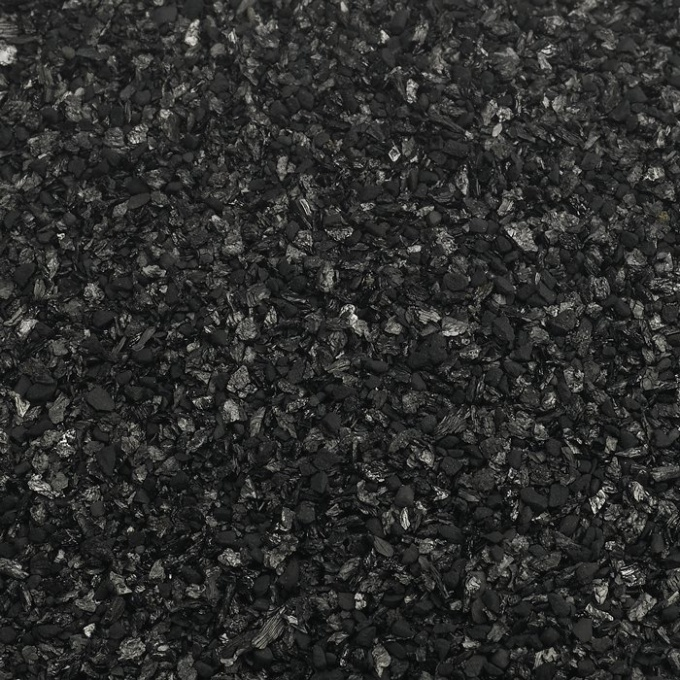 The activated carbon cleans the alcohol at home