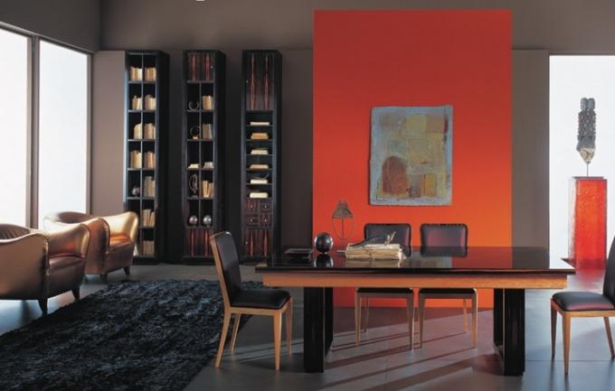 Популярный и эффектный вид зонирования - покраска стен в разных зонах в разные цвета