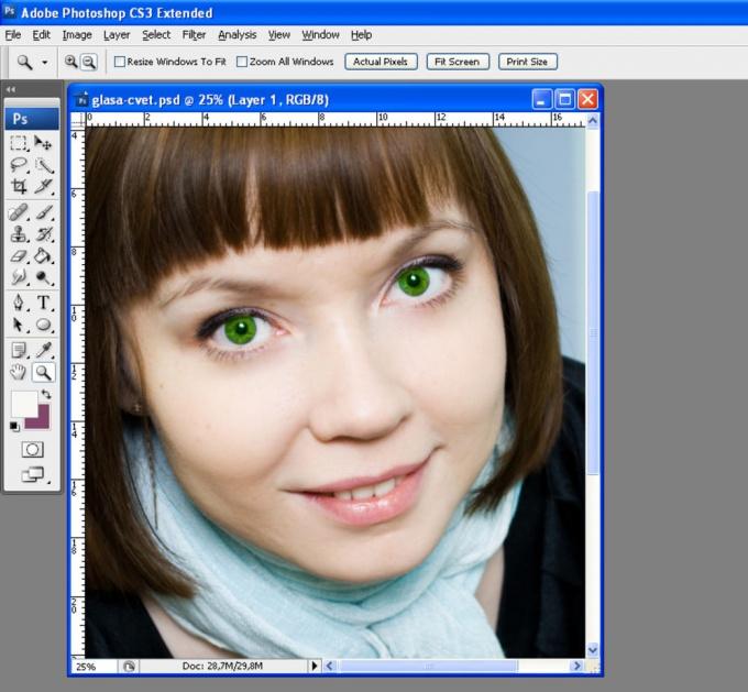 Как изменить цвет <b>глаз</b> в <em>фотошопе</em>