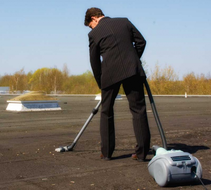 Most people collect dust with a vacuum cleaner