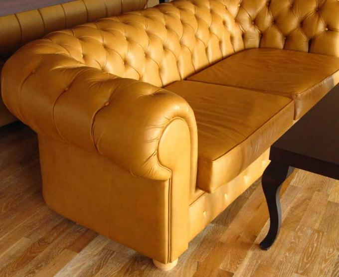 Easier to care with furniture made of leather or imitation leather