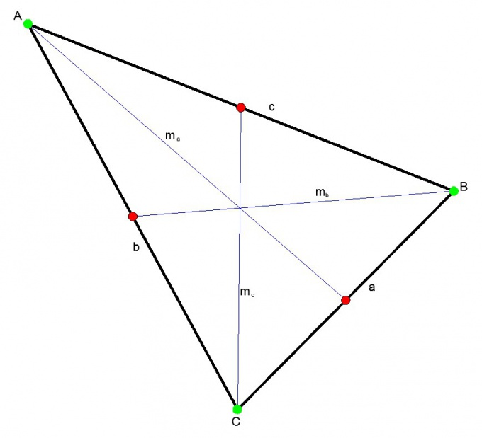 Triangle and its medians.