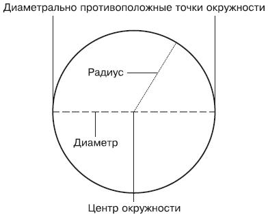 Окружность представляет собой геометрическую фигуру, образованную плоской замкнутой кривой