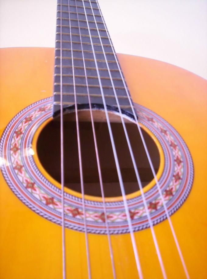 Классическая шестиструнная гитара.