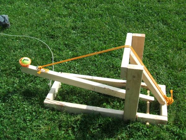 Making mini-catapults will take you for a few hours