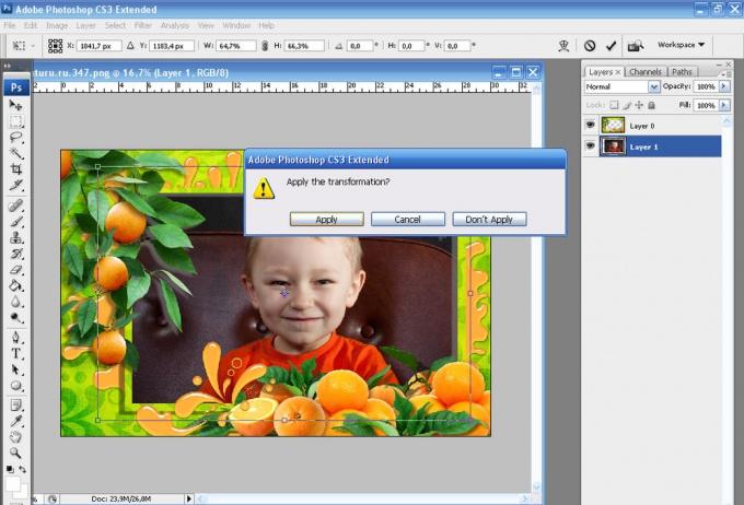 Как вставить в <strong>рамку</strong> <b>фотографию</b> в <em>фотошопе</em>