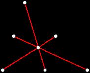Треугольник с проведенными медианами, отмеченными красным цветом