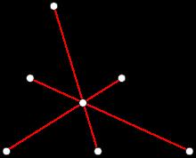 Треугольник, в котором красные отрезки - медианы