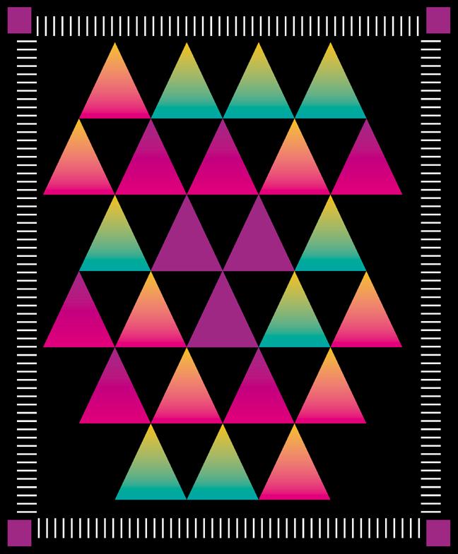 Из цветных треугольников можно сделать панно