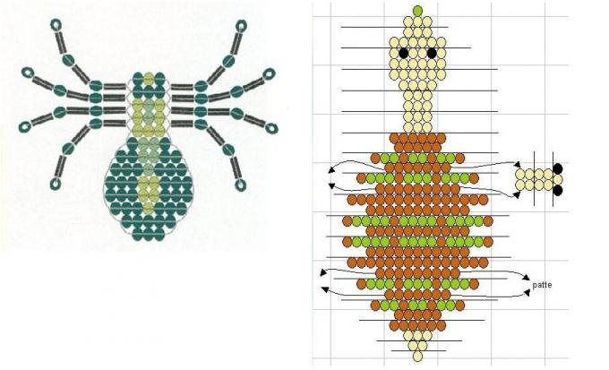 Схема плетения бисером животных