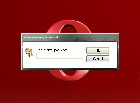 How to put a password on Opera