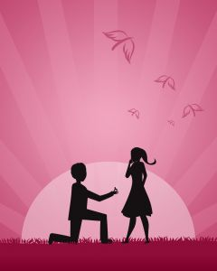 Просить руку девушки лучше всего, имея при себе кольцо для этой руки