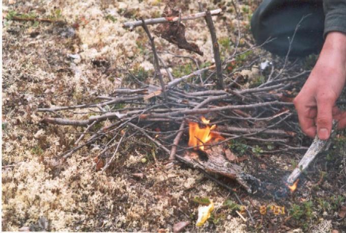 Как сделать огонь с помощью палок