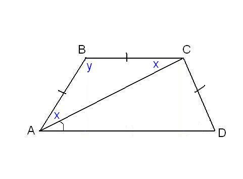 How to find an angle in a trapezoid