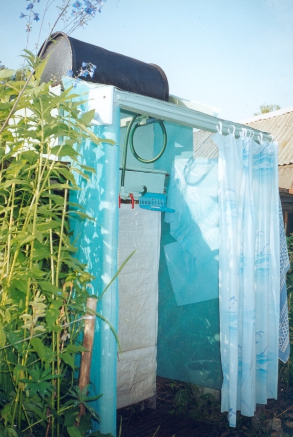 How to build outdoor shower