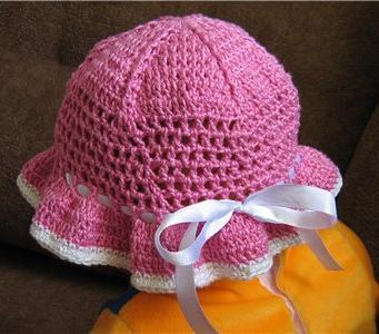 Как связать крючком шапочку для девчонки