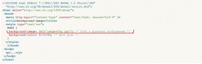 Как сделать в html сайте фон картинкой