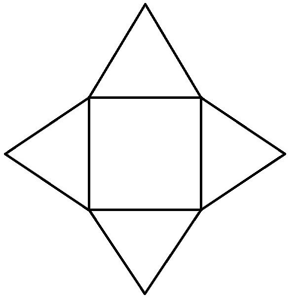 Как сделать и бумаги пирамиду