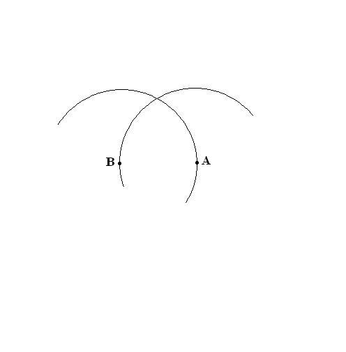 Как построить треугольник с <b>помощью</b> <em>циркуля</em>