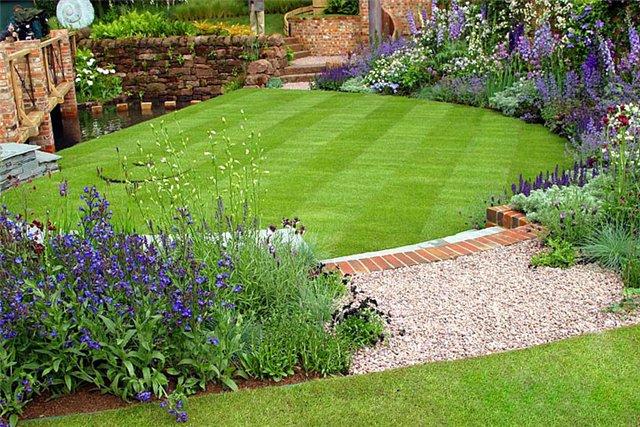 Хорошо сделанный газон - предмет гордости любого хозяина.