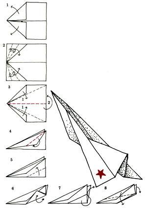 Оригами самолеты истребители летающие