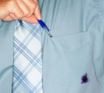 Как удалить шариковую ручку