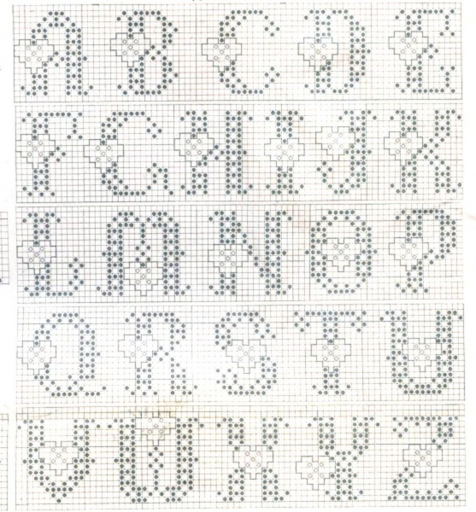 How to embroider lettering