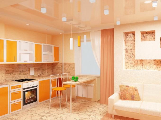 Как оформить кухню-гостинную