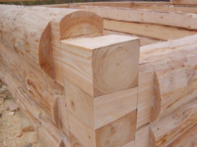 Как построить сруб для бани