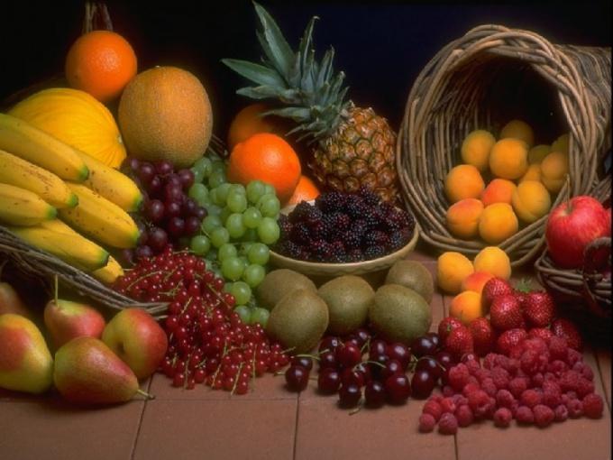 Как разложить красивые фрукты