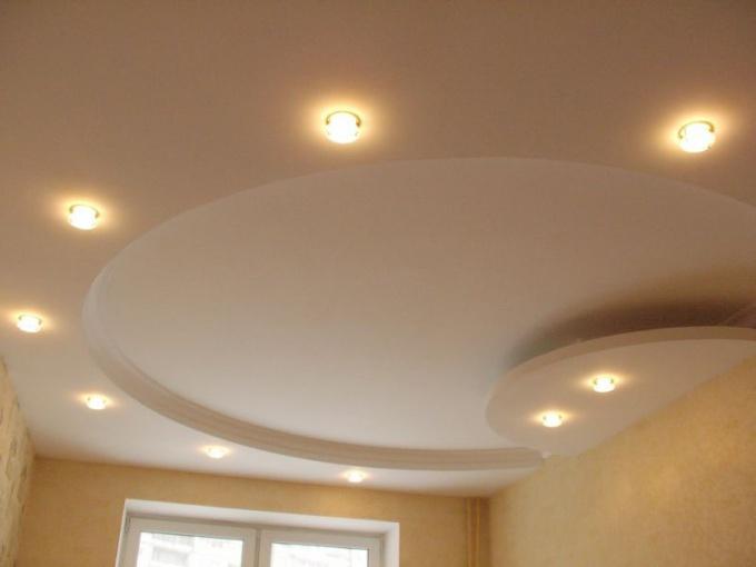 Вот такой из гипсокартона можно сделать потолок