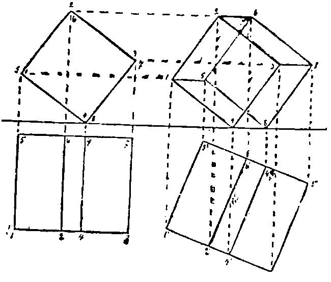 Эпюр (чертеж) в начертательной геометрии