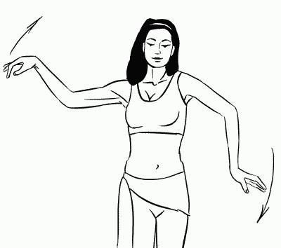 Как делать волну руками