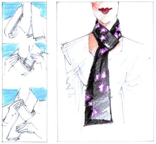 Как завязать красиво <strong>платок</strong> и <b>шарф</b>