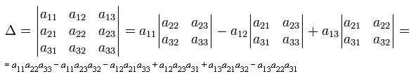 Как посчитать <b>определитель</b> матрицы