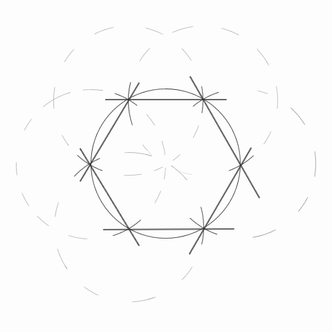 How to construct a regular hexagon