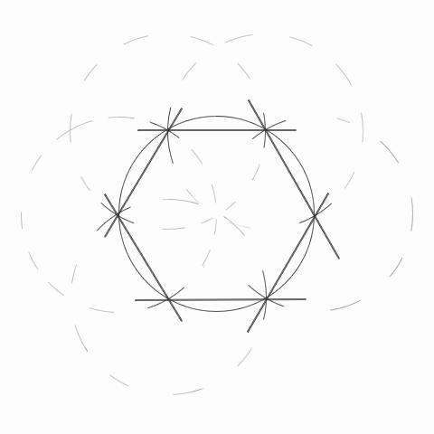 Как построить правильный шестиугольник
