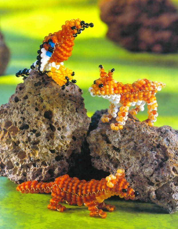 Как плести животных из бисера