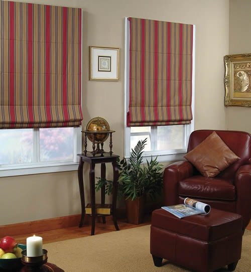 Roman blinds are very simple to manufacture.