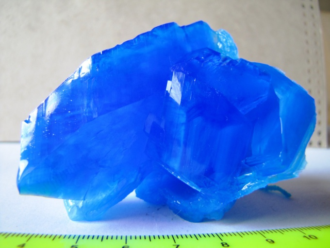 How to grow crystals of copper sulfate