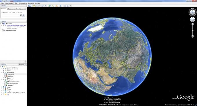 Как сделать карту google планета земля