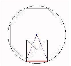 Как построить правильный восьмиугольник