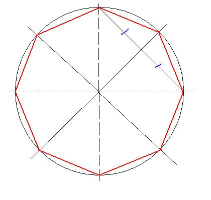 How to construct a regular octagon