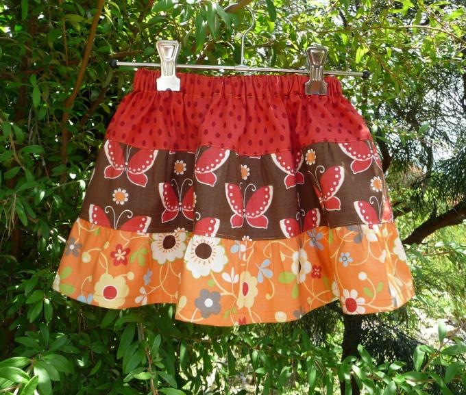 Как сшить юбку ярусами