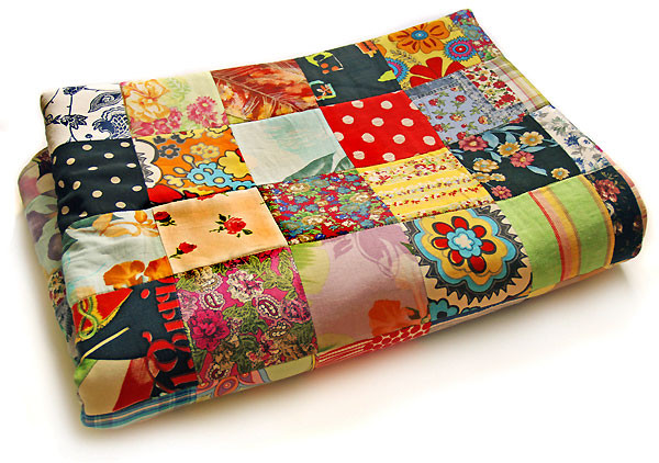 How to sew a patchwork blanket