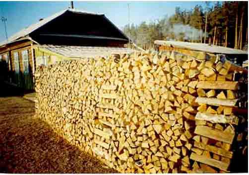 Как поставить дрова