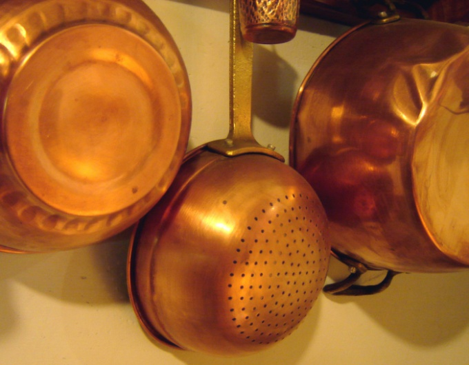 Copper differs from other metals in the warmness of the lights